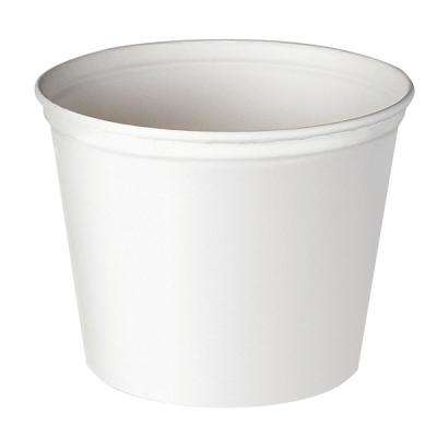 Double Wrapped Paper Bucket, 165 oz., Unwaxed, White, 100 Per Case