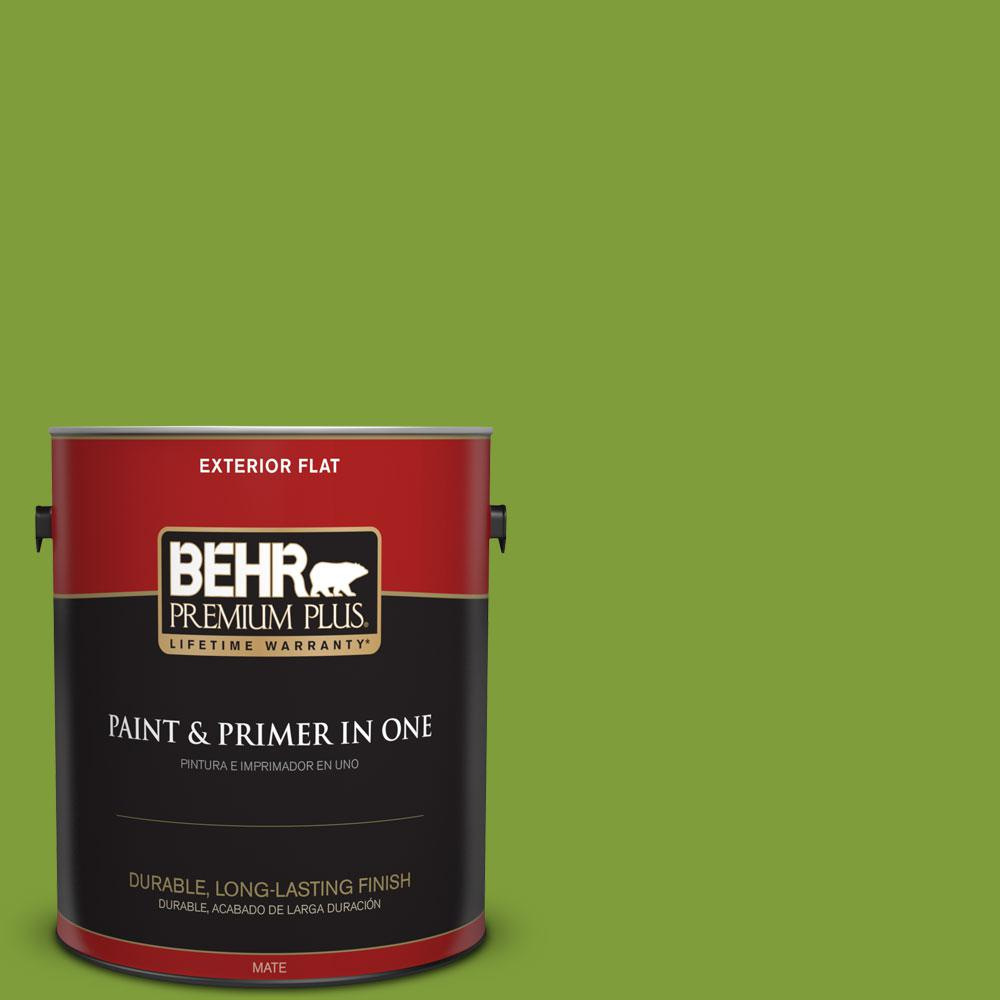 BEHR Premium Plus 1-gal. #T14-18 New Shoot Flat Exterior Paint