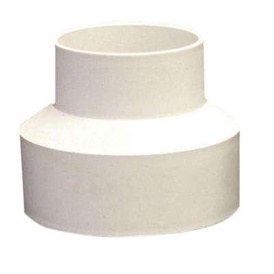 4 in. x 3 in. PVC Sewer and Drain Hub x Hub Reducer Coupling
