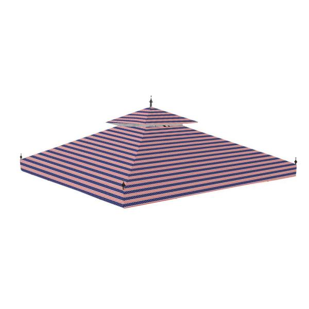 10 ft. x 10 ft. Arrow Gazebo Standard 350 Americana Replacement Canopy