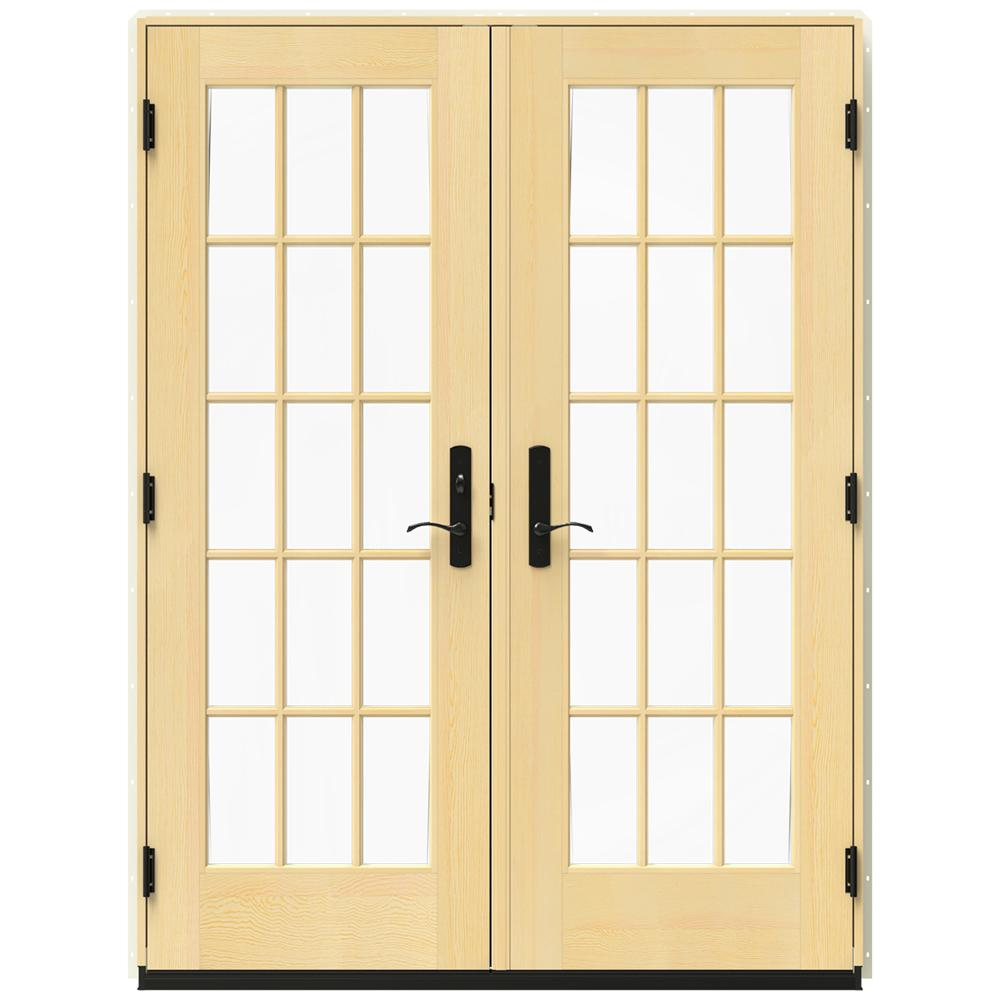 Jeld wen in x 79 5 in w 4500 french vanilla right for Home depot wood french doors