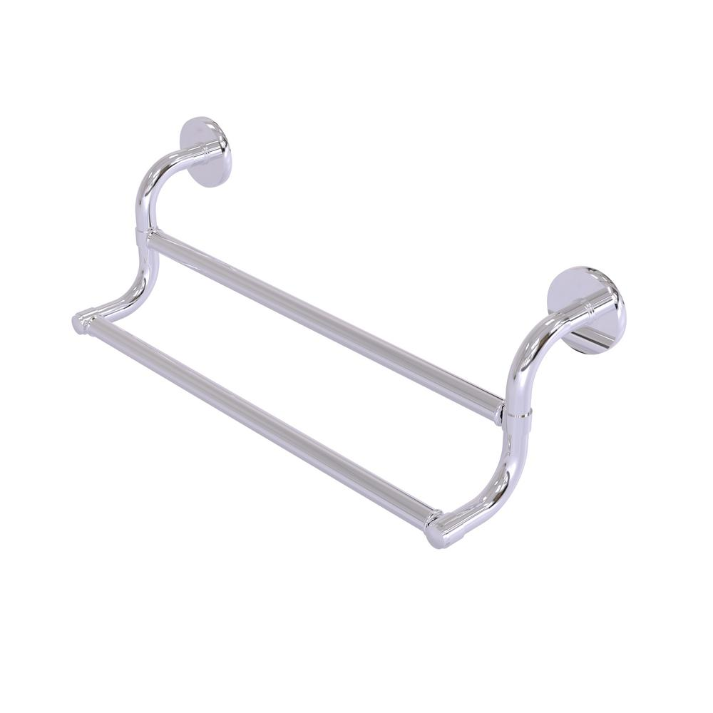 Remi Collection 24 in. Double Towel Bar in Polished Chrome