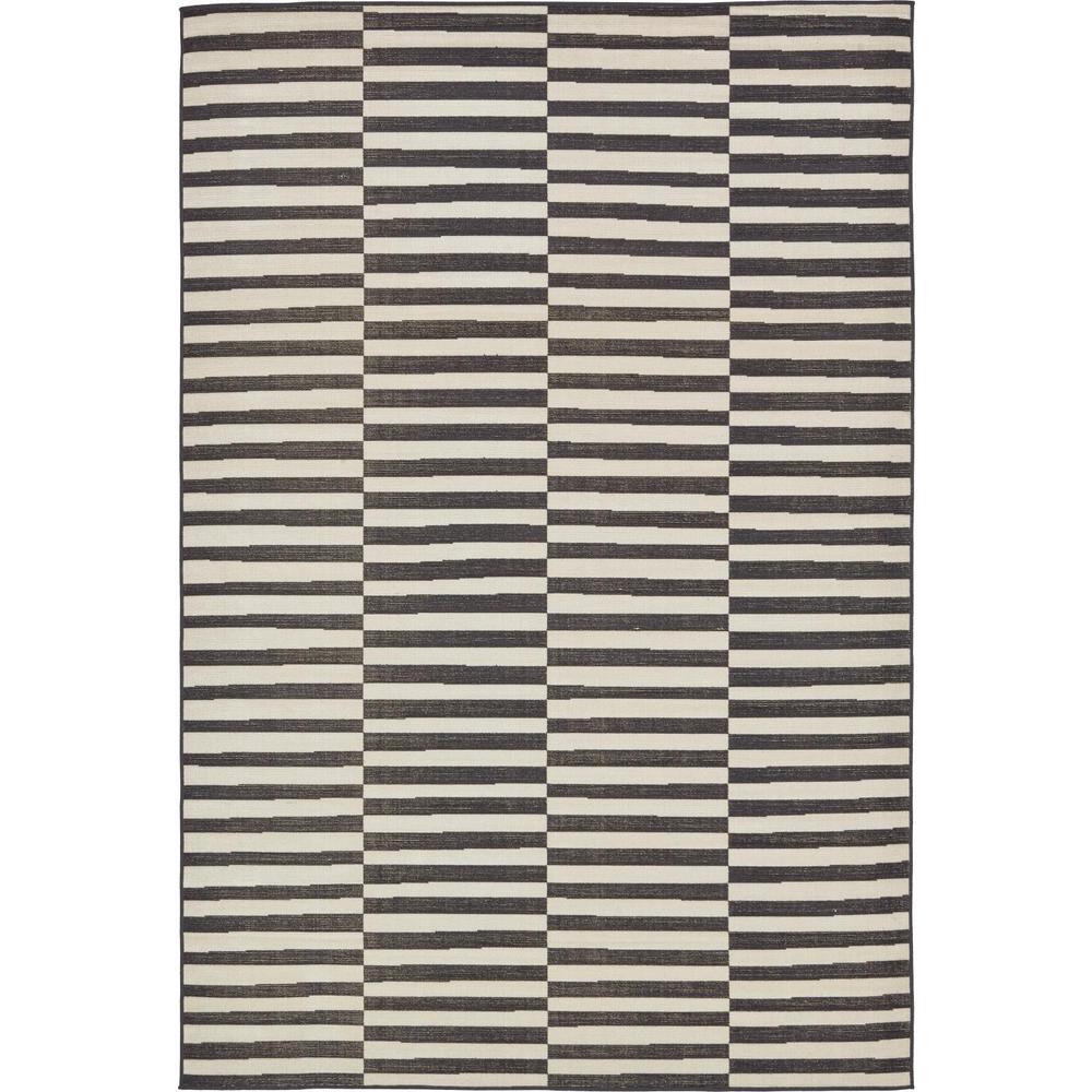 Williamsburg Striped Black 6' 0 x 9' 0 Area Rug