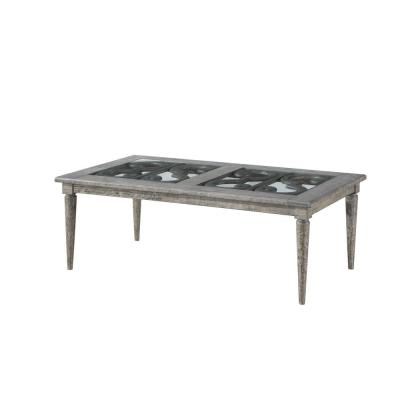Amelia Salvaged Natural Glass Wood Coffee Table