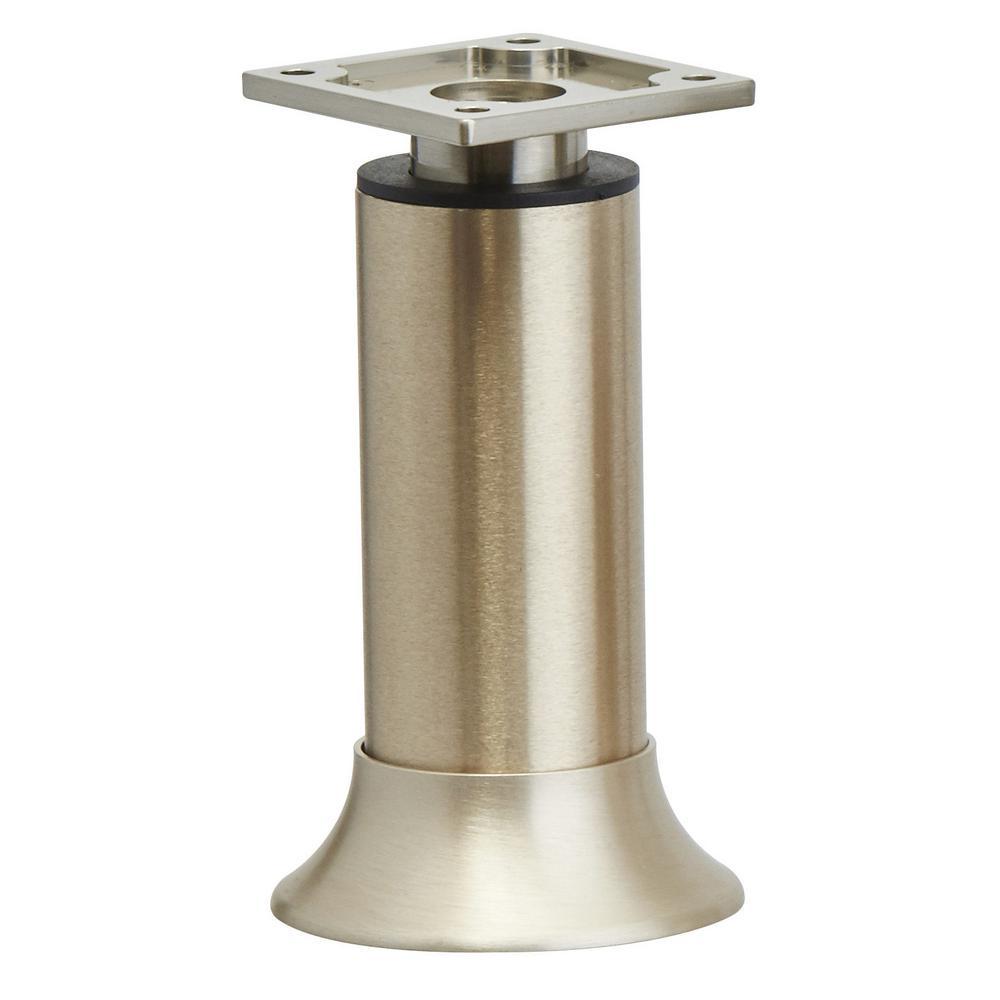 9-27/32 in (250 mm) Stainless Steel Adjustable Vintage Round Legs
