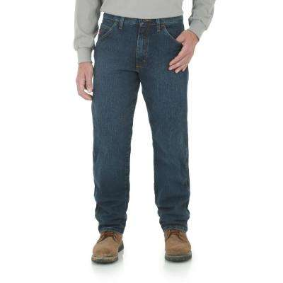 Men's Size 36 in. x 34 in. Midstone Relaxed Fit Advanced Comfort Jean