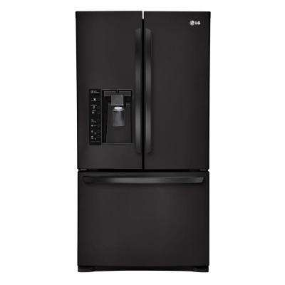 28.8 cu. ft. French Door Refrigerator in Smooth Black with Dual Ice Makers