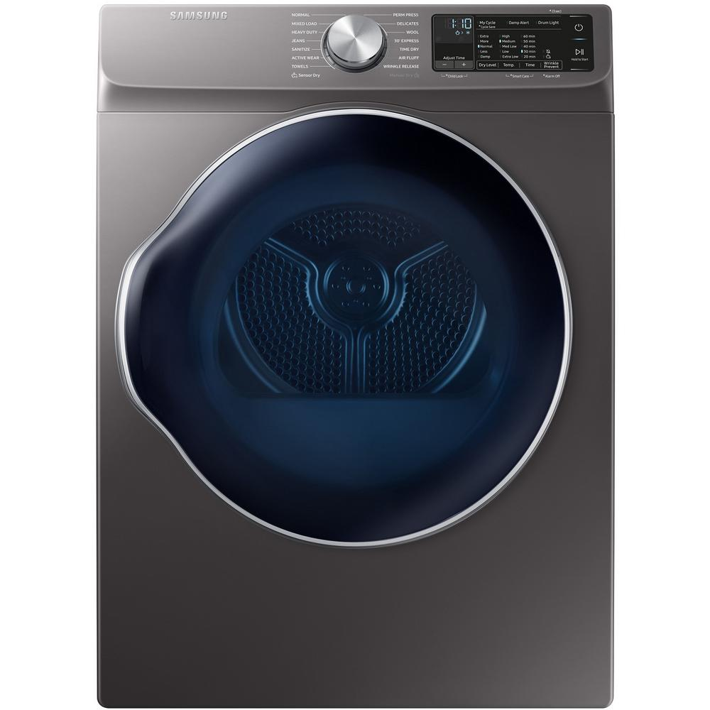 Samsung 4.0 cu. ft. Capacity in Inox Grey Stackable Electric Ventless Heat  Pump Dryer ENERGY STAR Certified