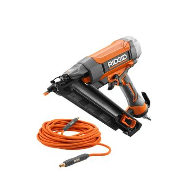 15-Gauge 2-1/2 in. Angled Finish Nailer with 1/4 in. 50 ft. Lay Flat Air Hose