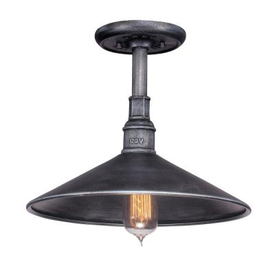 Toledo 1-Light Old Silver Outdoor Hanging Pendant