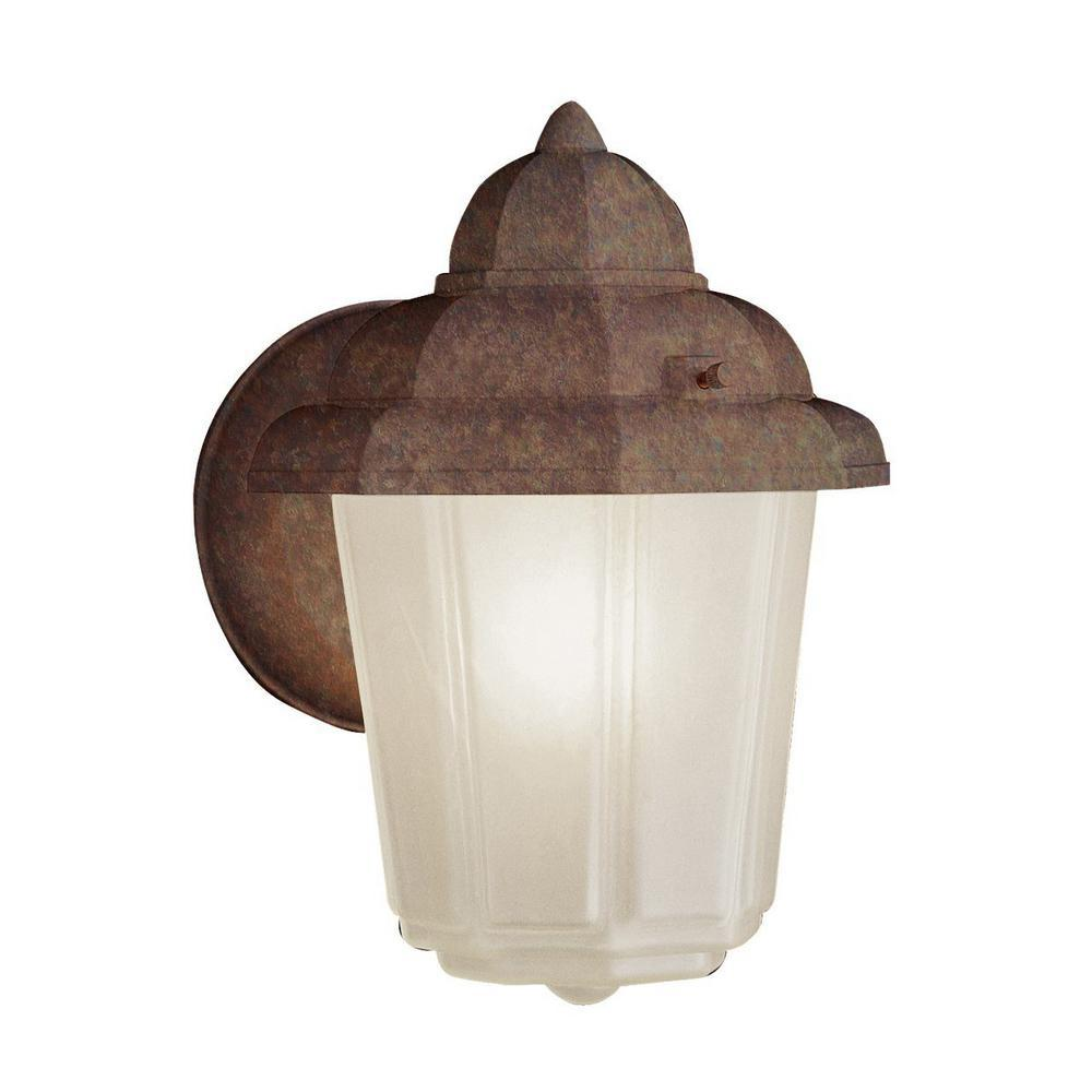 Dale 1 Light Rust Outdoor Wall Mount Lantern