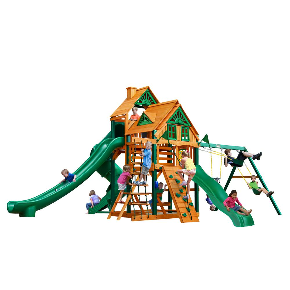 Great Skye II Treehouse Swing Set with Timber Shield