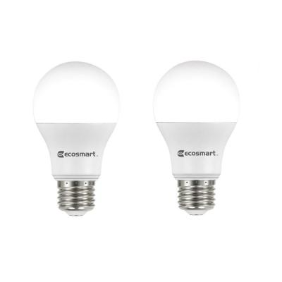 60-Watt Equivalent A19 Non-Dimmable LED Light Bulb Daylight (2-Pack)