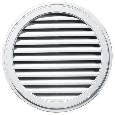 36 in. Round Gable Vent in White