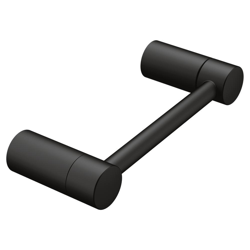 Moen Align Pivoting Double Post Toilet Paper Holder in Matte Black by MOEN