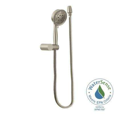 4-Spray Eco-Performance Handheld Handshower with Wall Bracket in Brushed Nickel