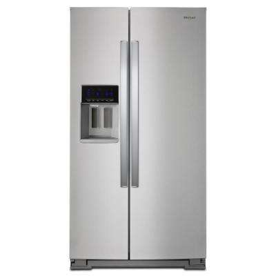 36 in. W 28 cu. ft. Side by Side Refrigerator in Fingerprint Resistant Stainless Steel, Full Depth