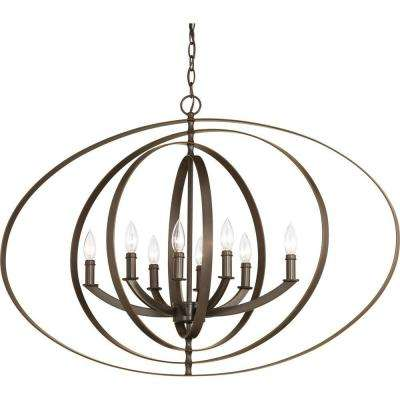 Equinox 8-Light Antique Bronze Orb Chandelier