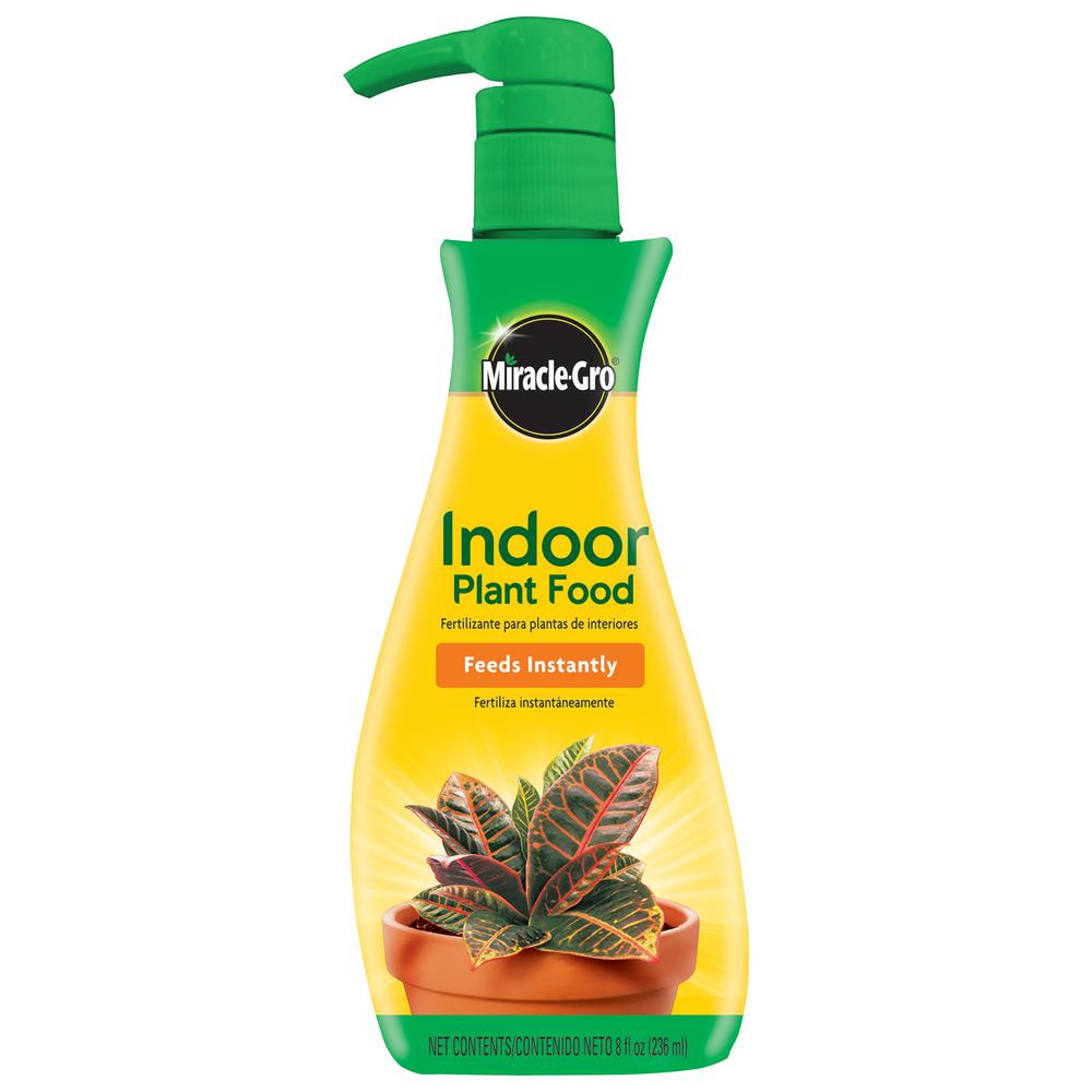 Miracle Gro Liquid 8 Oz Indoor Plant Food 100055 The Home Depot