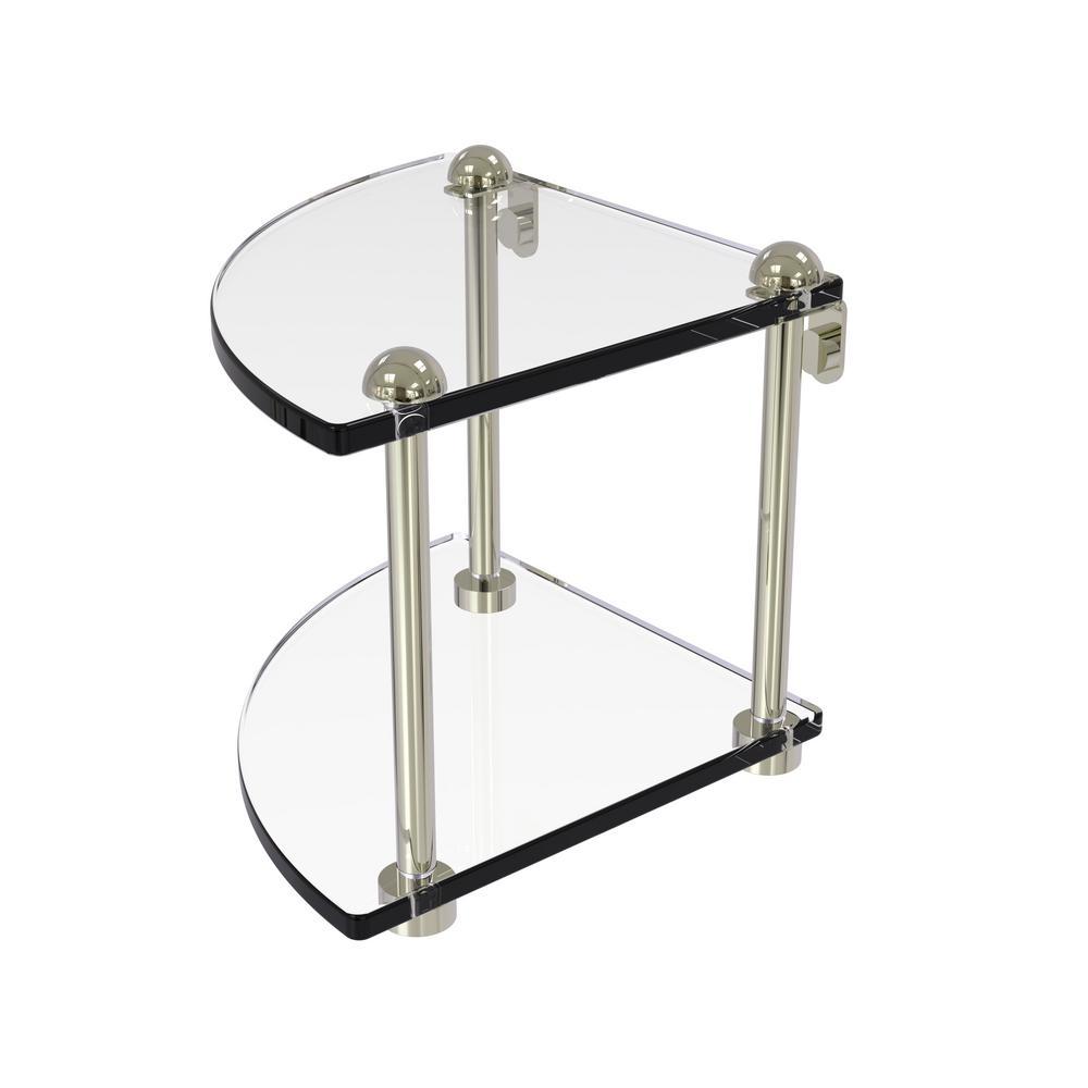 Brushed Nickel Bathroom Shelving Unit: MOEN Banbury 22.75 In. W Glass Shelf In Brushed Nickel