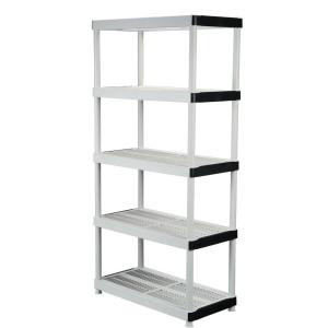HDX 36 in. W x 72 in. H x 18 in. D 5-Shelf Plastic Ventilated Storage Unit-127932 - The Home Depot