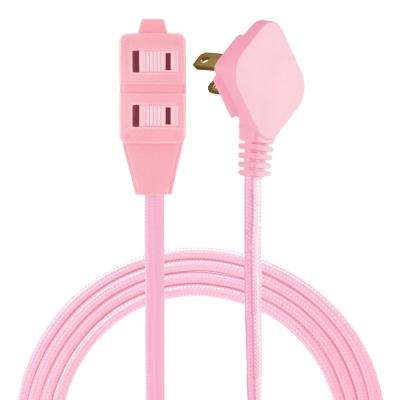 8 ft. 3 Polarized Outlet Basic Extension Cord, Light Pink