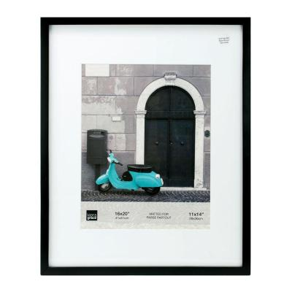 "kieragrace KG Contempo Wood Photo Frame - Black, 16"" x 20"" For 11"" x 14"""