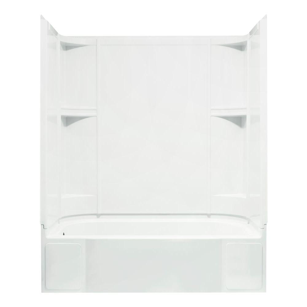 72 tub shower combo. STERLING Accord 30 In  X 60 72 Bath And Shower Kit With Left Hand Drain InWhite 76240110 0 The Home Depot