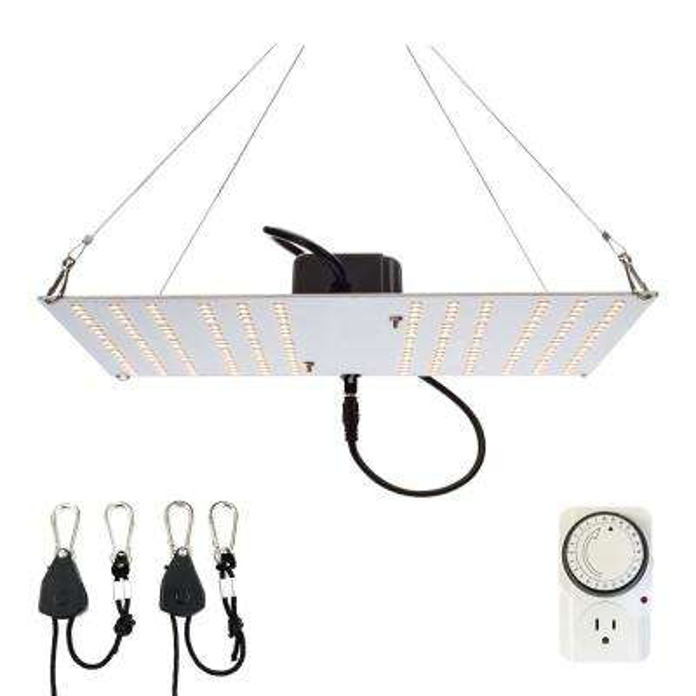 200-Watt Equivalent White Light Full Spectrum LED Plant Grow Light Fixture