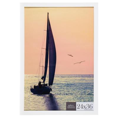 24 in. x 36 in. White Flat Poster Picture Frame