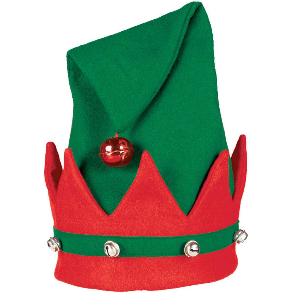 Amscan 15 In. X 11 In. Elf Christmas Hat With Bells (3
