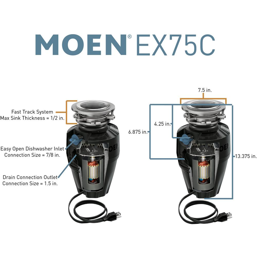 Moen Host Series 3 4 Hp Continuous Feed