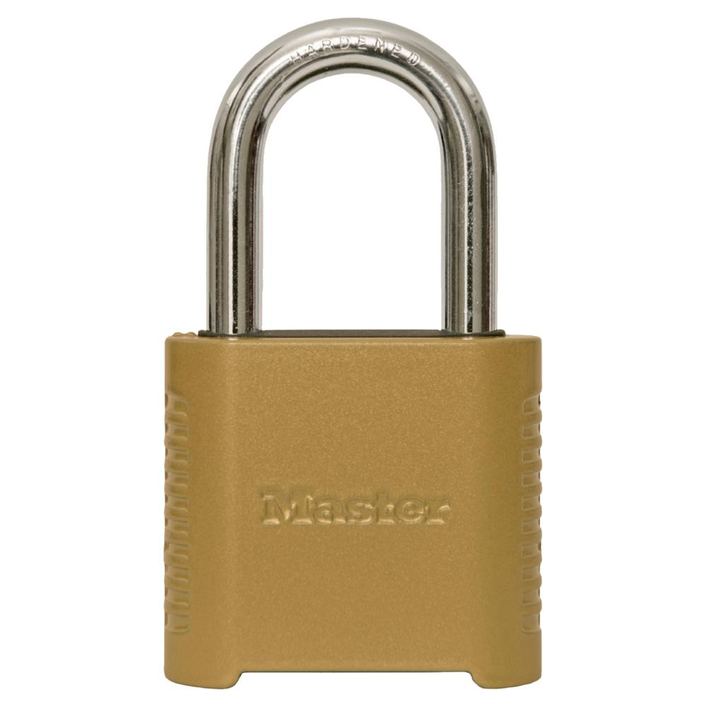 Master Lock 875DLF 2 in. Wide Zinc Set Your Own Combination Padlock with 1-1/2 in. Extra Long Shackle