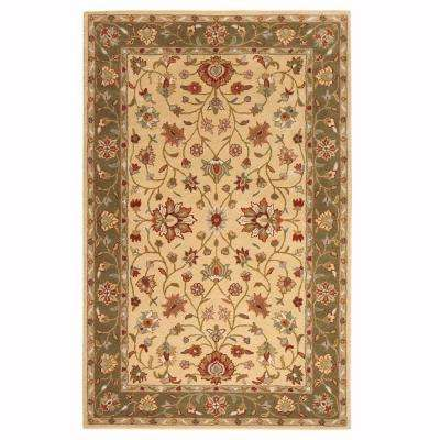 Warwick Gold and Green 5 ft. x 8 ft. Area Rug