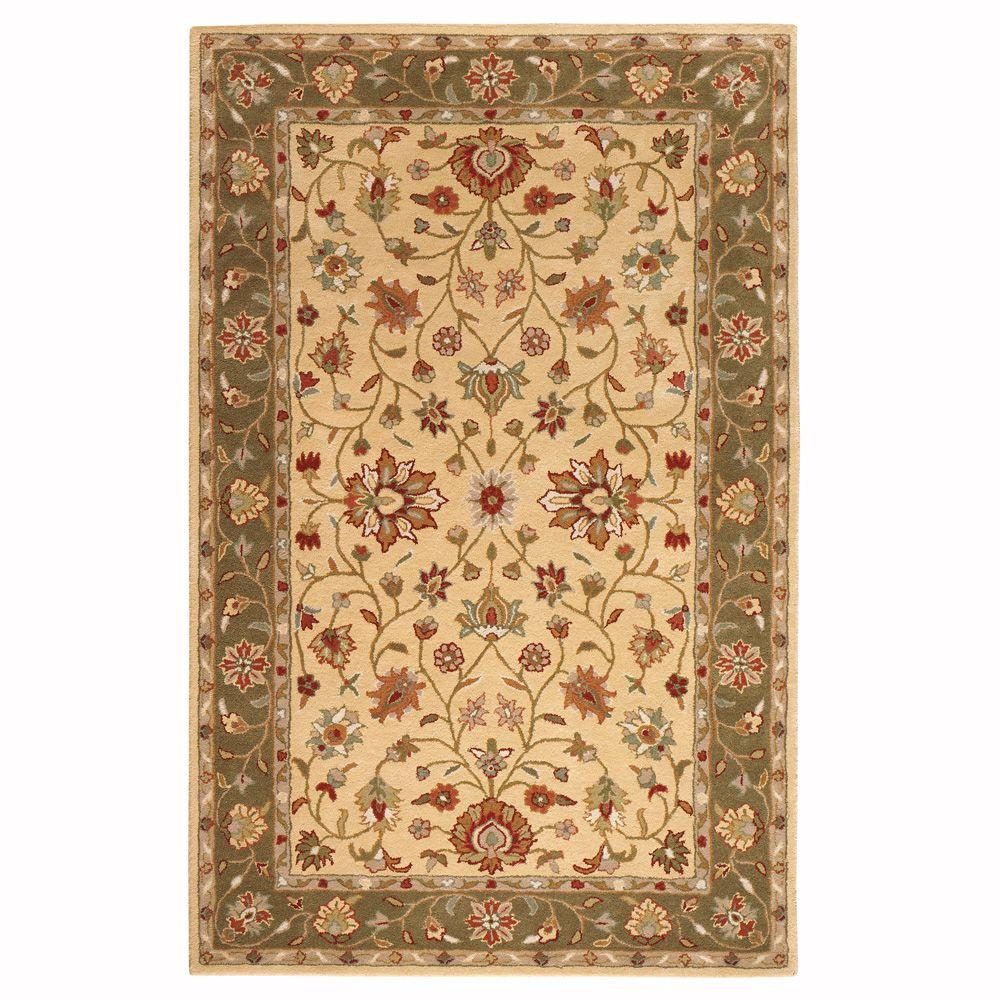 Home Decorators Collection Warwick Gold And Green 8 Ft X 11 Ft Area Rug 0256540530 The Home