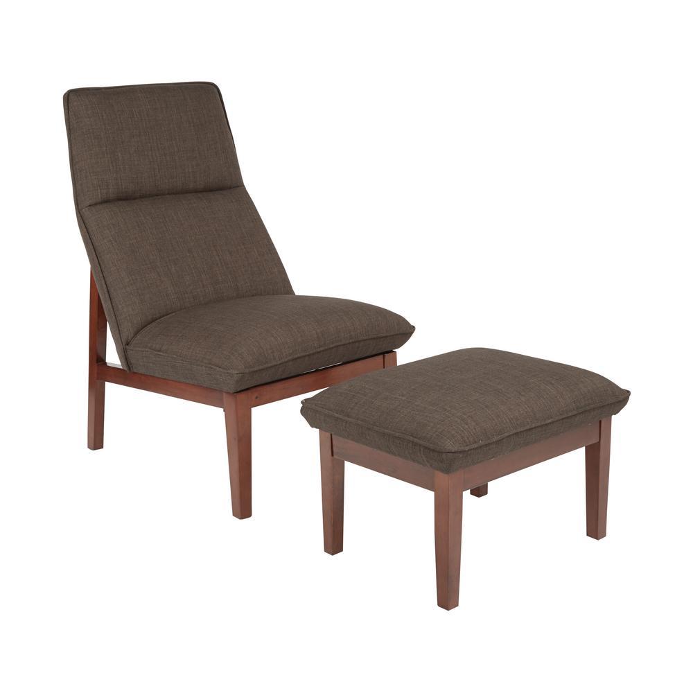 Cameron Taupe Chair and Ottoman