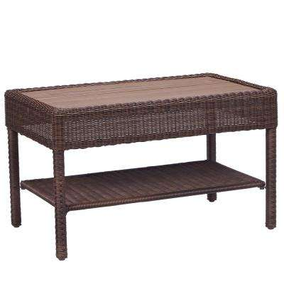 Park Meadows Brown Wicker Outdoor Coffee Table