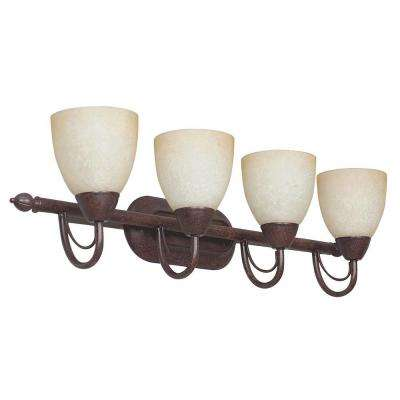 Fiscus 4-Light Oil Rubbed Bronze Bath Vanity Light