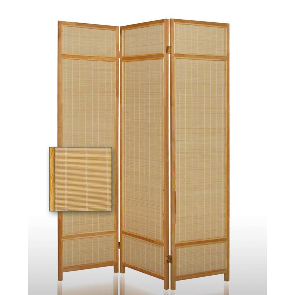 Surprising Pine Layered 6 Ft Light Brown 3 Panel Room Divider Download Free Architecture Designs Scobabritishbridgeorg