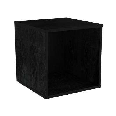 Black Open Front Modular Cube End Table