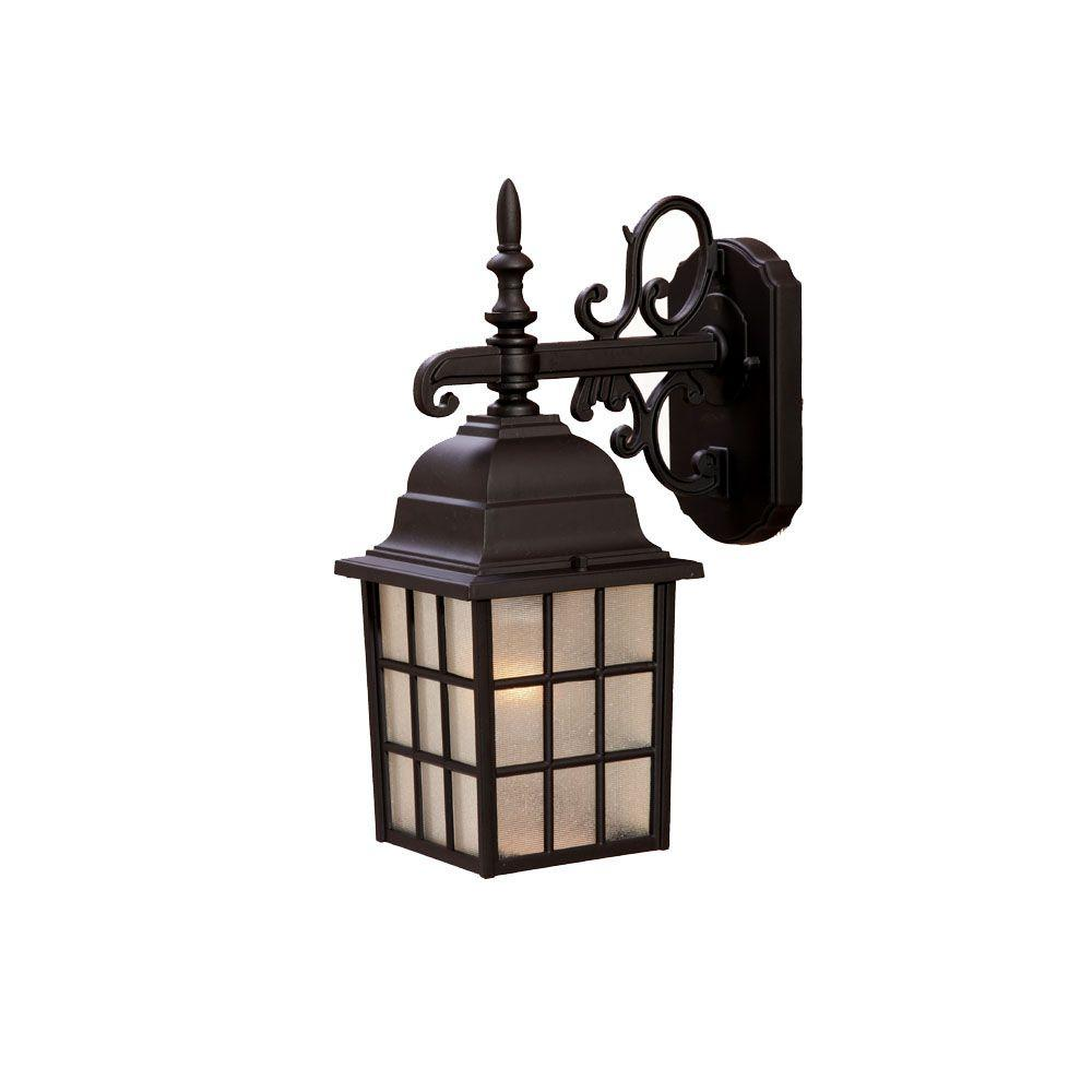 Nautica Collection 1-Light Matte Black Outdoor Wall-Mount Light Fixture