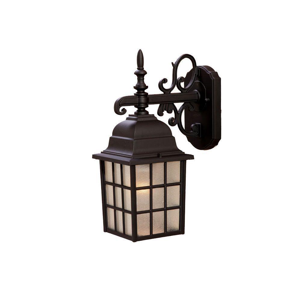 Nautica Collection 1-Light Matte Black Outdoor Wall-Mount Light Fixture