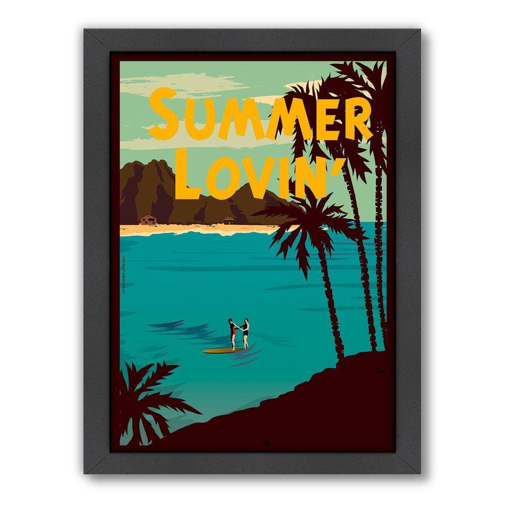 "Americanflat 27 in. x 21 in. ""Summer Lovin'"" by Diego Patino Framed Wall Art"