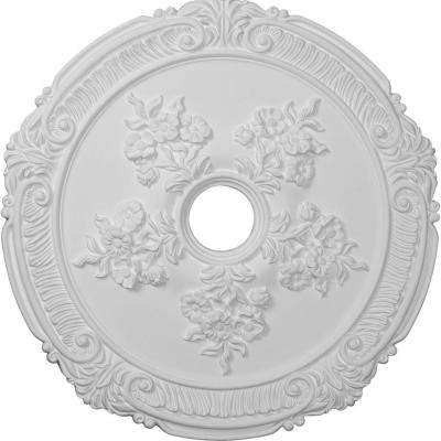 26 in. x 3-3/4 in. ID x 1-1/2 in. Attica with Rose Urethane Ceiling Medallion (Fits Canopies up to 4-1/2 in.)