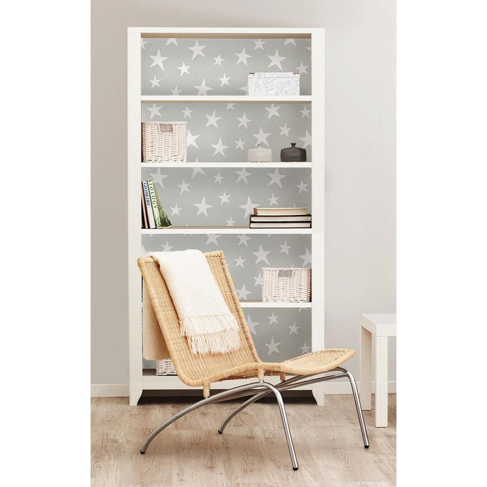 Grey Stardust Peel and Stick Wallpaper