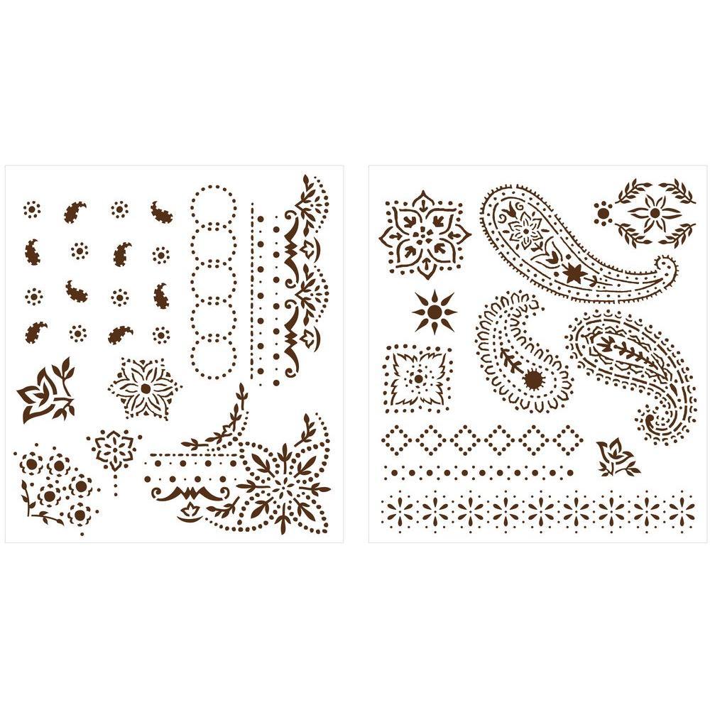 Martha Stewart Crafts Bandana Paisley Laser-Cut Stencils