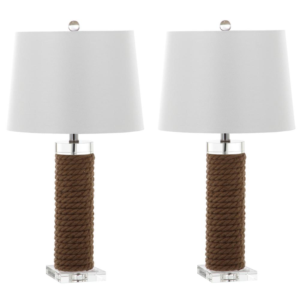 Brown Rope Table Lamp (Set Of 2)