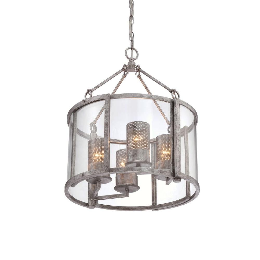Varaluz jackson 4 light antique silver chandelier with arched varaluz jackson 4 light antique silver chandelier with arched windowpane glass arubaitofo Gallery