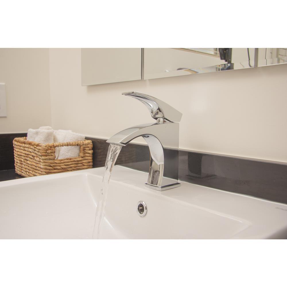 AB1586-PC Single Hole Single-Handle Bathroom Faucet in Polished Chrome