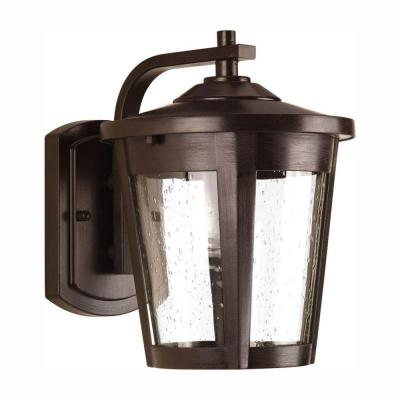 East Haven Collection 1-Light 9.75 in. Outdoor Antique Bronze LED Wall Lantern Sconce